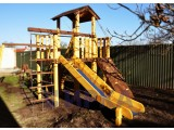 Площадка для детей с натурального дерева и нержавеющей стали
