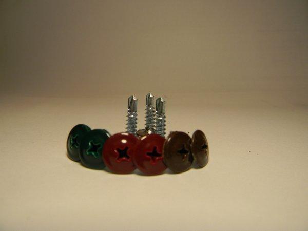 Фото  1 Саморезы для крепления профнастила и металлочерепицы. Размер 4,2х16. с покрытием RAL. 2080770