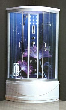 Душевой бокс Atlantis AKL 60P-3 (90*90*215), гл. под. , рис. цветок