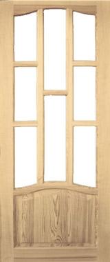Дверь деревянная под стекло М1/5 Высший сорт (высота - 2000 мм; ширина - 600, 700, 800, 900; толщина - 40 мм)