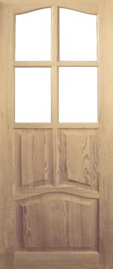 Дверь деревянная под стекло М4/2 Высший сорт (высота - 2000 мм; ширина - 600, 700, 800, 900; толщина - 40 мм)