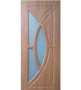 Дверь МДФ с покрытием ПВХ Фантазия ольха со стеклом (Украина)