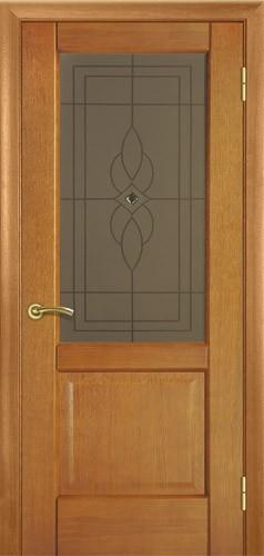 Дверь межкомнатная Юта орех ( модель 18) —Терминус (со стеклом) Киев.
