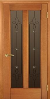 Дверь шпон Модель17 (60,70,80,90) стекло (шт. )