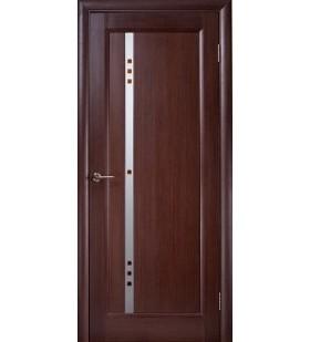Дверь шпонированная Фиджи венге, стекло с фьюзингом (Украина)