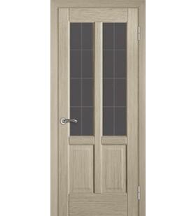 Дверь шпонированная Гранд беленый дуб, стекло сатин (Украина)