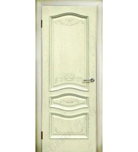 Дверь шпонированная Леона ваниль, отделка шпона вручную. (Белоруссия)