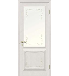 Дверь шпонированная Ника Антик Деко, стекло с декоративным рисунком