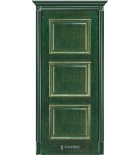 Дверь шпонированная Триест зеленый с золотом, (Белоруссия)