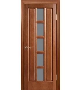 Дверь шпонированная Турин мокко, стекло сатин (Украина)