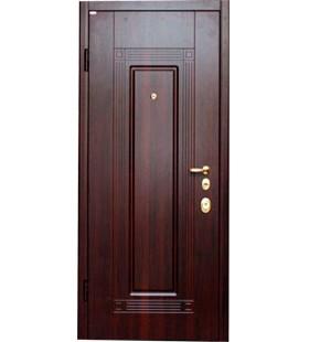 Дверь стальная 09 темный орех