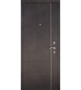 Дверь стальная Аризона венге, металл 2мм, в полотне 1,2мм, с минватой (Украина)