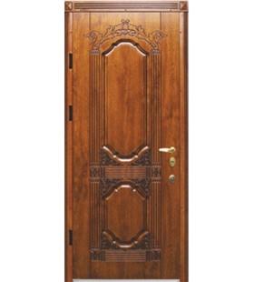 Дверь стальная Корона патина с МДФ накладками (покрытие уличное Vinorit)
