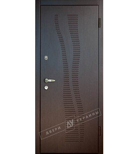 Дверь стальная, модель Мираж венге