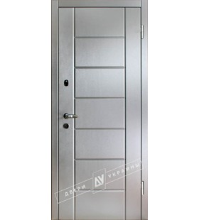 Дверь стальная Ника алюминий, металл 2мм, с минватой (Украина)