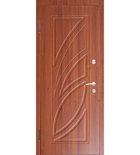 Дверь стальная, Пальмира с МДФ накладками, рисунок с двух сторон