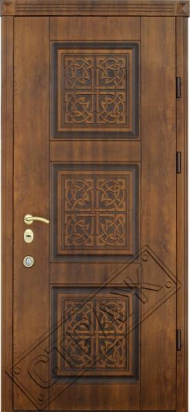 Дверь стальная R-10 патина (покрытие vinorit, уличное)