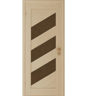 Дверь в покрытии эко-шпон (полипропилен) Диагональ 2 беленый дуб (Белоруссия)