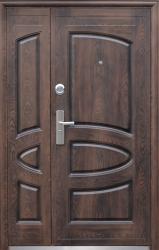 Двері 127 лак тефлон 2 замка, наповнювач - мінеральна вата. Розмір: 2050860мм, 2050960мм, 20501200