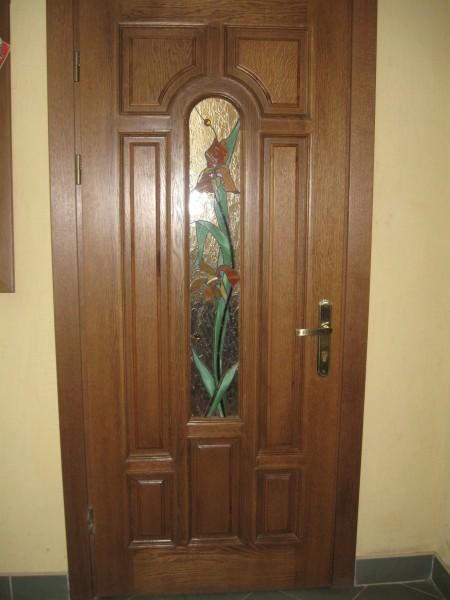 двойные входные дубовые двери