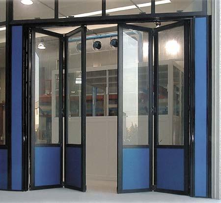 Двери гармошка, перегородки гармошка из алюминиевого профиля