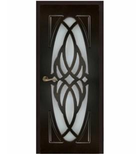 Двери ламинированные Орхидея тик, МДФ покрытый ПВХ пленкой, стекло матовое. (Украина)