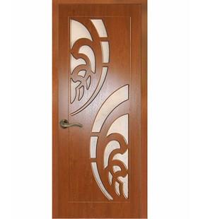 Двери ламинированные Прибой золотой дуб, МДФ покрытый ПВХ пленкой, стекло матовое. (Украина)