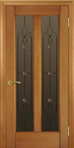 """Двери межкомнатные в цвете """"орех класический"""", модель 17 со стеклом или глухая. Шпонированый евробрус"""
