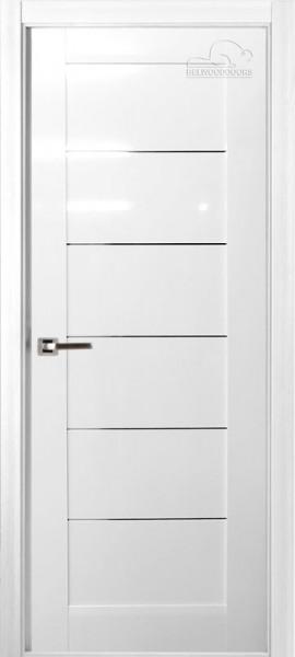 Двери Мирелла белый глянец