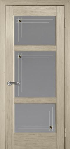 Двері міжкімнатні деревяні шпоновані. Модель 14 білений дуб. Шпоновані дубом. Скло, коробка, налічніки в комплекті.