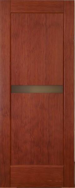 Двері міжкімнатні деревяні. Шпоновані коренем амаретто. Зі склом. Модель 31.