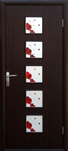 Двері міжкімнатні колекції Квадра Фора Р1 ТМ Новий Стиль зі складу у Львові в кольорі : венге, горіх