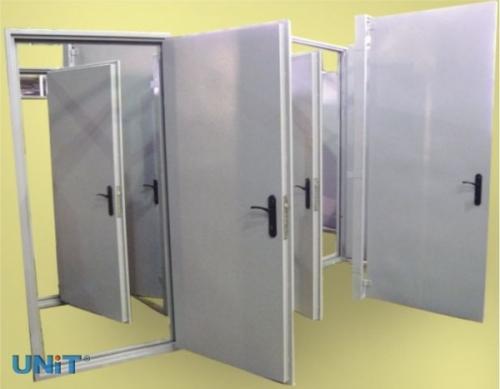 двери металлические промышленные противопожарные