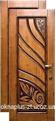 Двери с МДФ патина