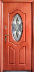Двері вхідні металеві 221 автолак-мін. вата скло