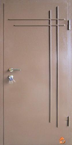 Двери входные металлические МДф+молотковый покрас.