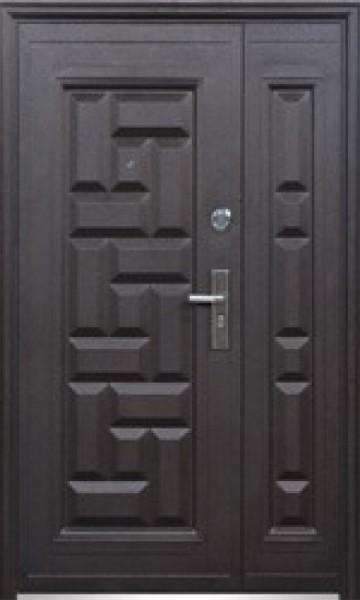 Двері вхідні металеві подвійні 1200х2050 103 молоток - мін. вата