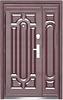 Двері вхідні металеві подвійні 1200х2050 140 автолак - мін. вата