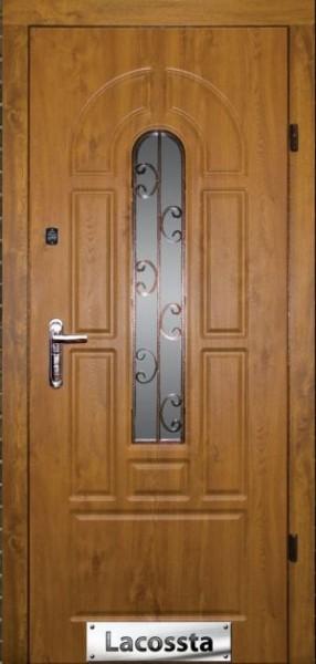 Двері входные з МДФ накладками розмір 860*2050 вуличний варіант з плівкою віноріт і вологостійка плита, ковка