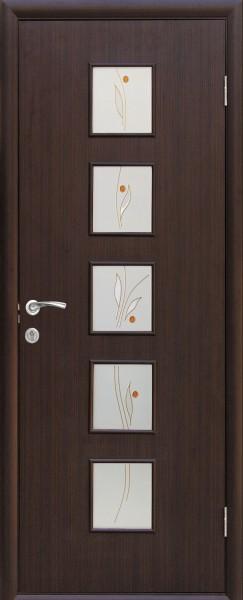 Дверное полотно ламинированное Фора с витражным стеклом