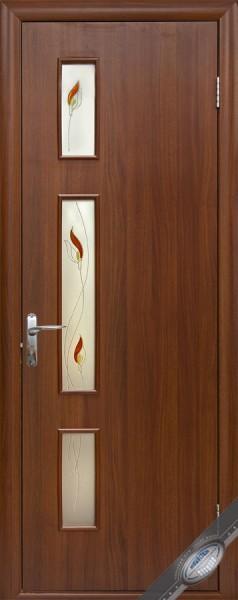 Дверное полотно ламинированное Герда с витражным стеклом