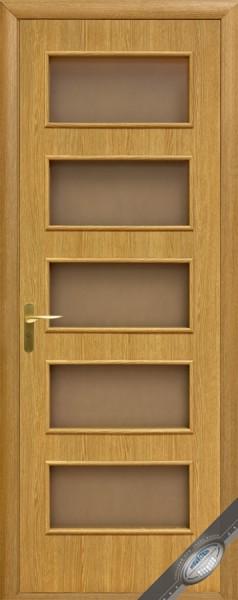 Дверное полотно ламинированное со стеклом Квадра Ева