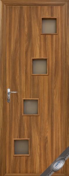 Дверное полотно ламинированное со стеклом Квадра Ронда