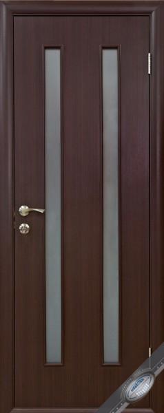 Дверное полотно ламинированное со стеклом Квадра Вера