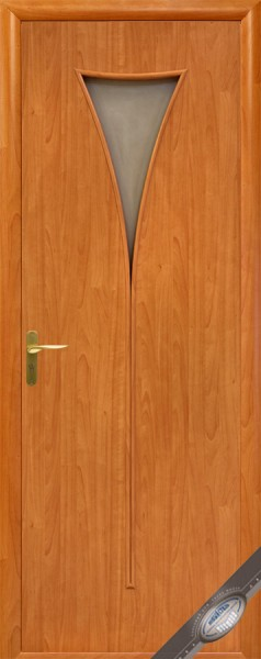 Дверное полотно ламинированное со стеклом Модерн Бора