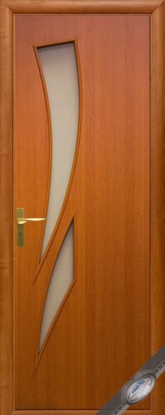 Дверное полотно ламинированное со стеклом Модерн Камея