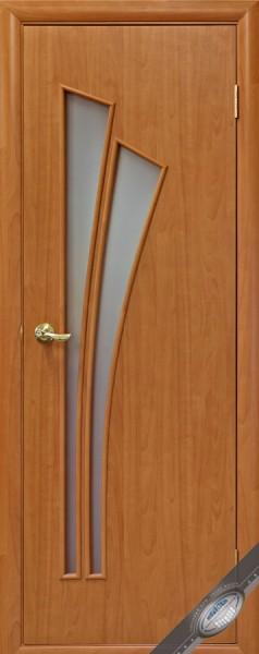 Дверное полотно ламинированное со стеклом Модерн Лилия