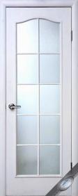 """Дверное полотно МДФ """"Сипли"""" С(без стекла), """"ТМ Новый стиль"""" цвет:белый"""