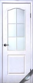 """Дверное полотно МДФ """"Сипли"""" В, """"ТМ Новый стиль"""" цвет:белый"""
