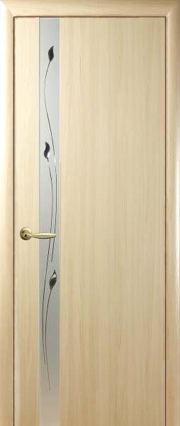 Дверное полотно, покрытое ПВХ пленкой Квадра Злата